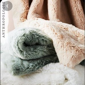 Fireside Faux Fur Throw Blanket